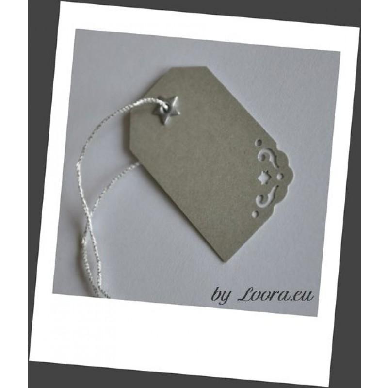 Etikety na darčeky Strieborná - Etikety na darčeky - Balenie ... ca49460490b