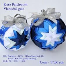Kurz Vianočné gule - patchwork