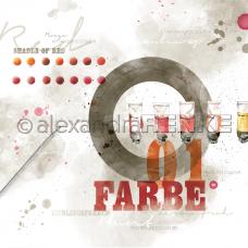 Vzorovaný papier A.Renke Farby