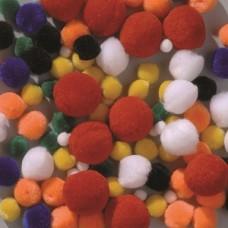 Plyšové guličky POM POM Zmes farieb