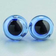 Sklenené oči na šitie Modré