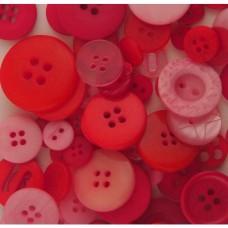 Gombíky Galore Červená a Ružová