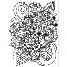 Embosovacia kapsa Henna ornament