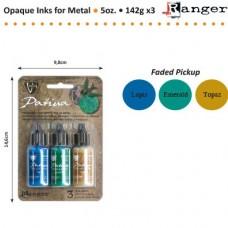 Alkoholové atramenty Vintaj patina Lapis, smaragd, topáz
