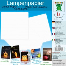 Papier na výrobu lámp Biela
