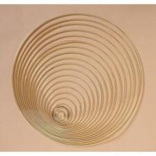 Drôtený kruh na Lapač snov Mosadz svetlá / hr.4 mm