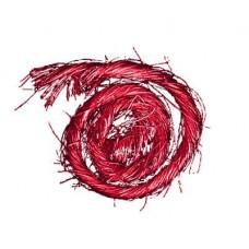 Sisal s drôtom Červená