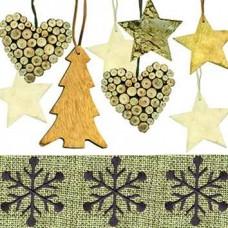 Servítka Vianočné ozdoby