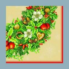 Servítka Vianočný veniec