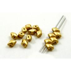 Korálky Kosoštvorec s 2 dierkami Zlatá
