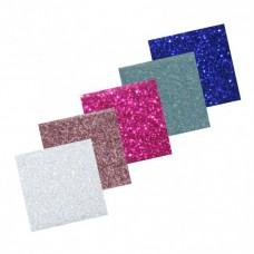 Glitrovaný samolepiaci papier 5 farieb