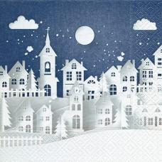 Servítka Zimné mesto
