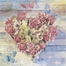 Servítka Srdce z kvetov