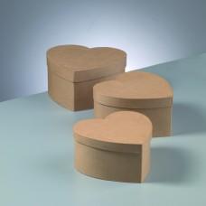 Papierová krabica Srdce - 11 veľkostí