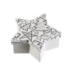 Papierová krabica s vymaľovankou Hviezda malá