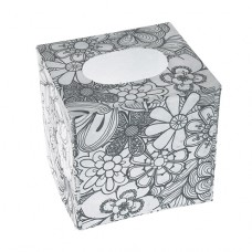 Papierová krabica na servítky s vymaľovankou Kocka