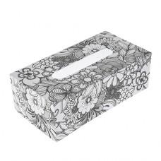 Papierová krabica na servítky s vymaľovankou Obĺžnik