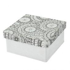 Papierová krabica s vymaľovankou Štvorec malý