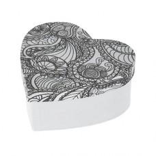 Papierová krabica s vymaľovankou Srdce malé