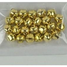 Zvončeky, rolničky 8, 10, 13 mm Zlaté 280 ks