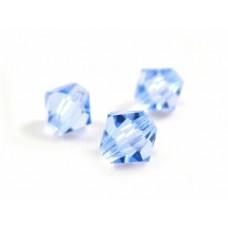 Korálky Bicone Modrá nebeská 6 mm
