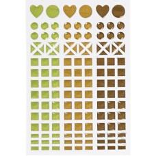 Samolepka Glitrovaná Zelená a hnedá
