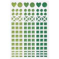 Samolepka Glitrovaná Zelená