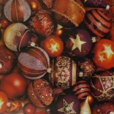 Baliaci vianočný papier Oranžovo-hnedý Gule