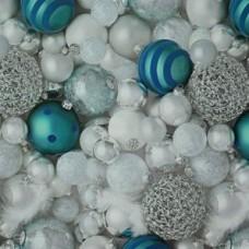 Baliaci vianočný papier Bielo-tyrkysová Gule