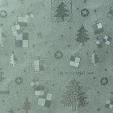 Baliaci vianočný papier Striebornomodrá