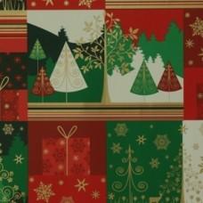 Baliaci vianočný papier Zeleno-červený