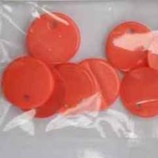 Perleťové gombíky Oranžovoružová