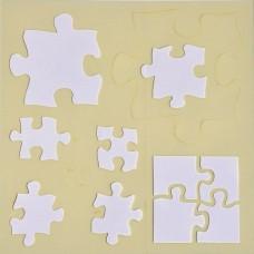 Šablóna na scrapbooking Puzzle