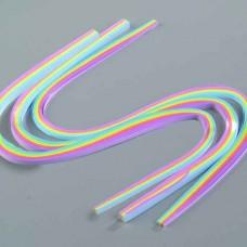 Quilling - papierové prúžky Dúha pastel