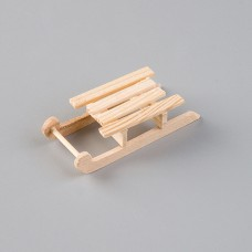 Miniatúrne Drevené sánky 8 cm