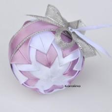 Vianočná guľa Ružový patchwork