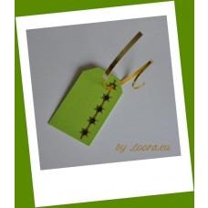 Etikety na darčeky Zelené hviezdičky