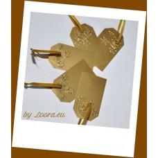 Etikety na darčeky Zlaté vločky