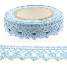 Lepiaca čipka Bordúra Modrá