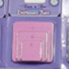 Etikety Štvorec Ružová