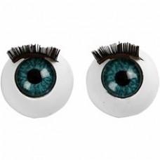 Veľké modré oči s mihálnicami
