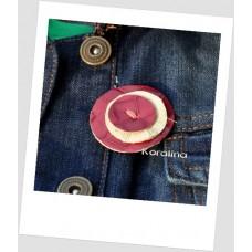 Brošňa Ružová gombička