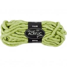 Akrylová chunky vlna Zelená svetlá