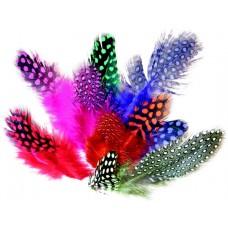 Prepeličie perá farebné