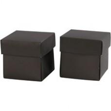 Krabička na darčeky 5,5x5,5 cm Čierna