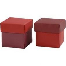 Krabička na darčeky 5,5x5,5 cm Červená