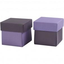Krabička na darčeky 5,5x5,5 cm Fialová