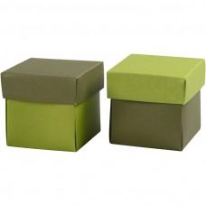 Krabička na darčeky 5,5x5,5 cm Zelená