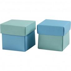 Krabička na darčeky 5,5x5,5 cm Tyrkysová