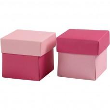 Krabička na darčeky 5,5x5,5 cm Ružová